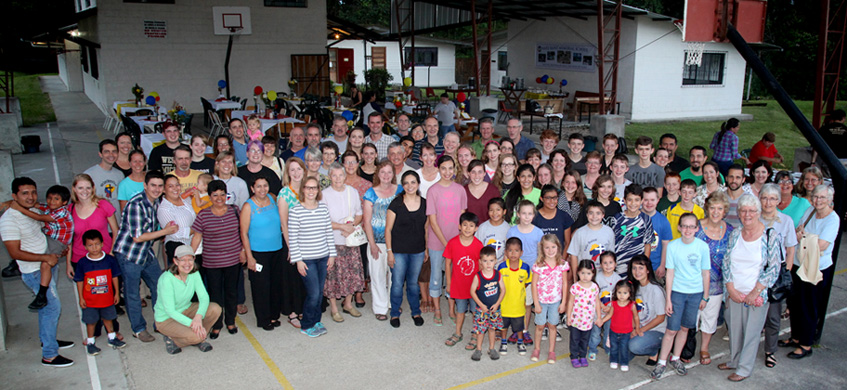 This crowd of students, parents, teachers (past and present), administrators and friends gathered in Shell, Ecuador, in 2016 for the 50th anniversary of Nate Saint Memorial School.