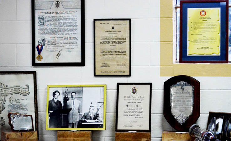 Memorabilia and photos recount 85 years of ministry on Radio Station HCJB in Ecuador.