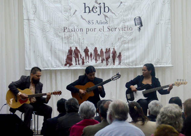 Several musical groups performed at the celebration.