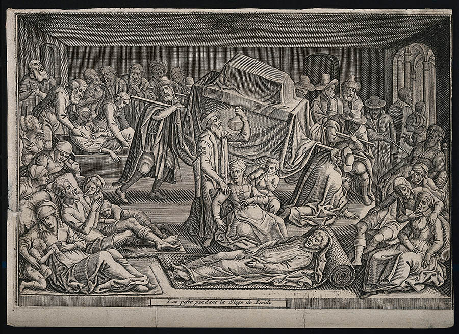 Credit: The Wellcome Collection - The Plague in Leiden in 1574