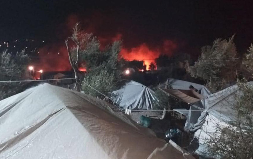 On September 8th, 2020 fire destroyed the Moria Refugee Camp.