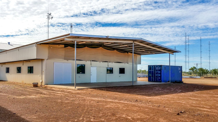 The HC100 is again on the air at the international broadcasting facility in Kununurra.