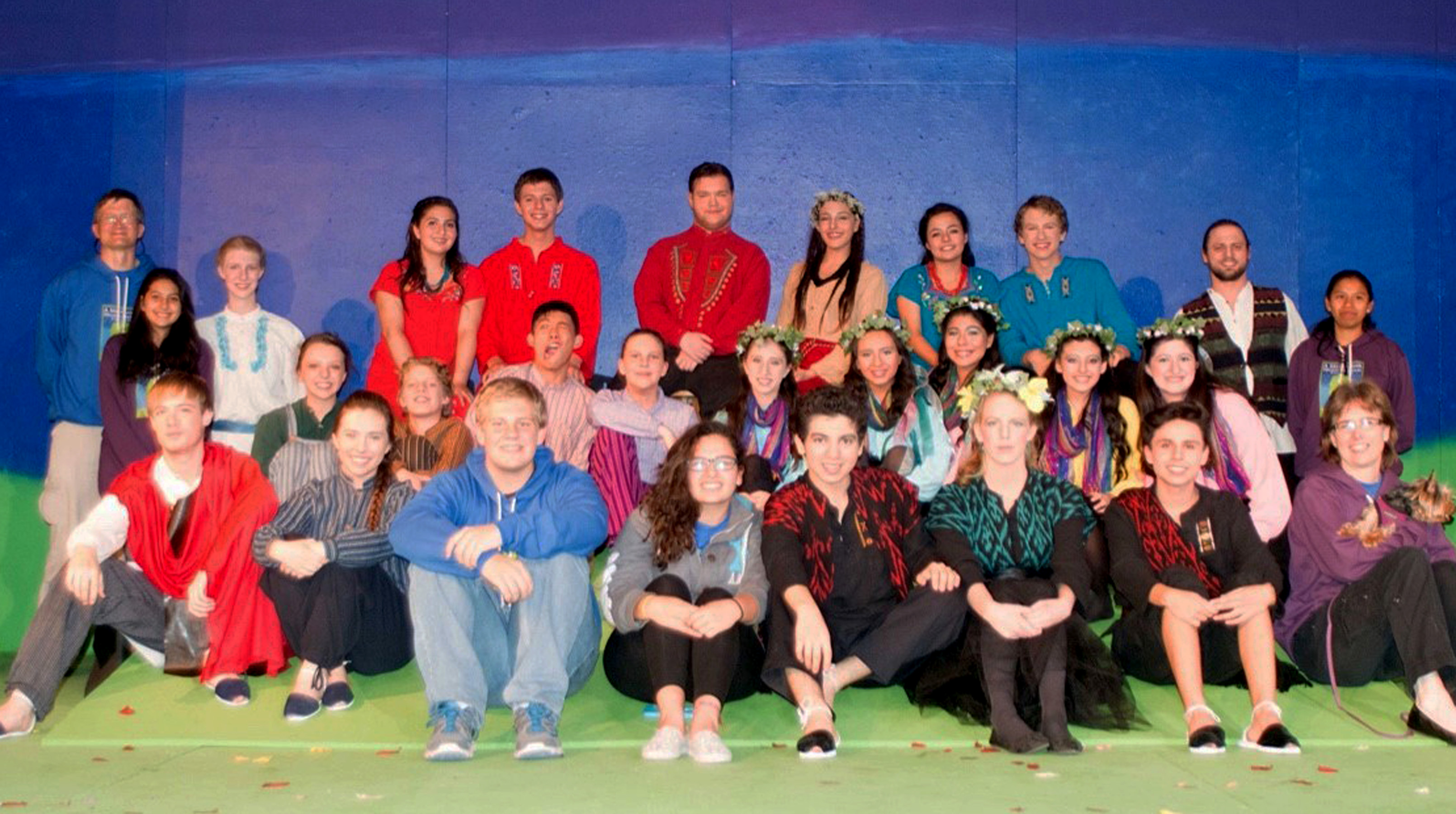 "Quiring with the cast of ""A Midsummer Night's Dream."""