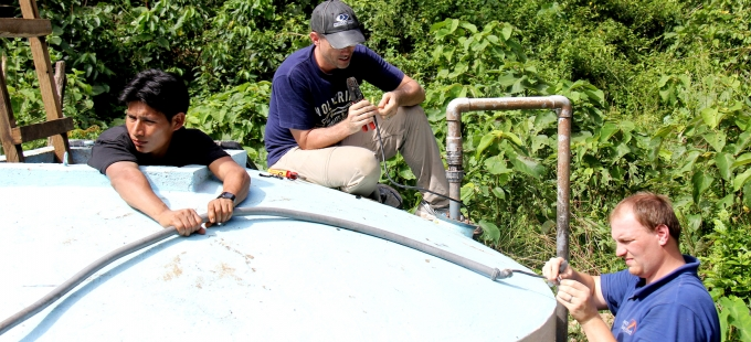 Satellite monitoring for water pumps